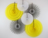 Birthday Party Decorations -6 Tissue Paper Fans Decor Kit , weddings, party decorations