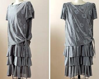 SALE 1980s Dress / 80s Party Dress // The Metallurgist Dress