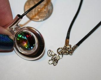 Swarovski Crystal Rivoli Pendant Vitrial Stone