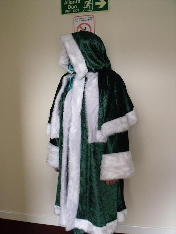 Green Velvet Irish Santa Claus/Father Christmas/Xmas Suit