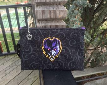 Baltimore Ravens Angry Bird Wristlet