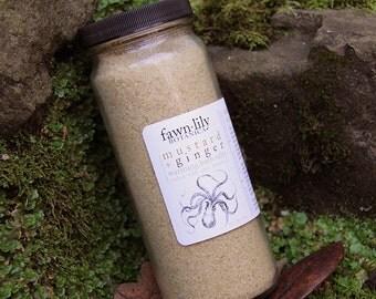 Mustard & Ginger Root Warming Bath Salts  - made from Organic Botanicals