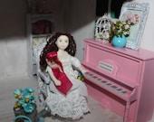 ooak baby doll house ddoll shabby 1/12 art doll girl vintage or modern SALE