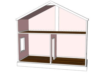Doll House Plans for American Girl or 18 inch dolls - 3 Room Option - NOT ACTUAL HOUSE