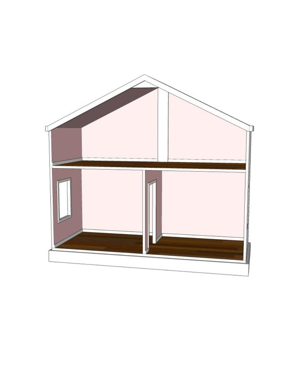 Items similar to Doll House Plans for American Girl or 18 inch