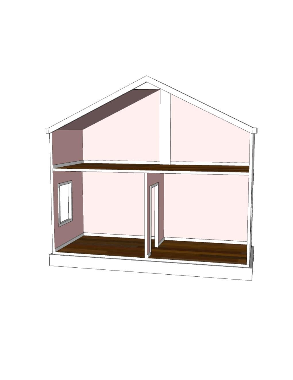 Doll House Plans For American Girl Or 18 Inch By Addielillian