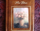Vintage Leather Look Vinyl Small Photo Album wih Floral Design
