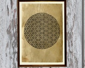 Sacred geometry decoration Mandala poster Flower of life print  8.3 x 11.7 inches