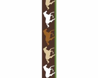 "3 yards Horse Satin Ribbon 7/8"" wide. New on roll galloping horses satin ribbon."