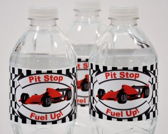 INSTANT DOWNLOAD Race Car Water Bottle Labels - Printable - Glamorous Sweet Events