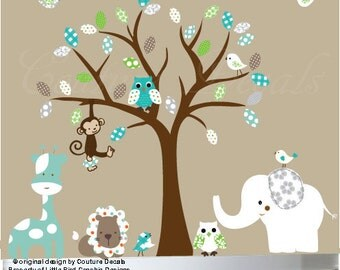 Nursery wall decal - Jungle wall decals children's wall decal - 0211