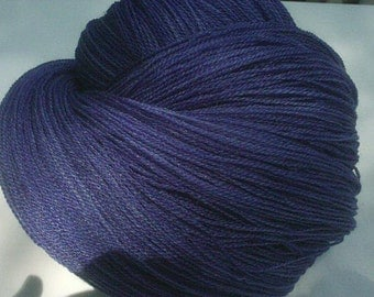 Blue Velvet - Hearthside Fibers Champagne Lace - Hand Dyed Merino/Silk Lace Weight Yarn