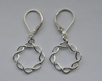 Sterling Silver Lever Back Earrings 51
