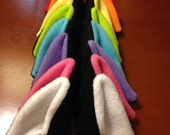 Rainbow Bundle - Black - Cat Ear Hair Clips