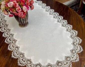 white lace trim, venise lace trim, vintage lace, scalloped lace, crocheted lace, vintage bridal lace