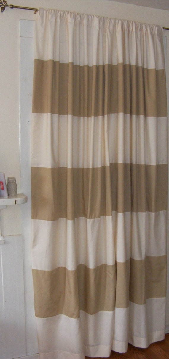 Curtains Ideas curtain rod ring clips : Curtain Panels Beige / Tan / Khaki and Cream Fully Lined any color ...