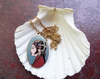 Vintage asian necklace kawaii japanese chinese