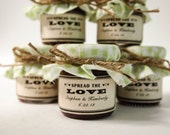 Wedding Favors in Mint Green,  Personalized Wedding Favors, Applebutter Wedding Favors, Wedding Shower Favors, Wedding Party Favors in Mint
