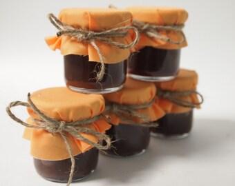 50 Rustic Barn Wedding Mason Jar Favors, Mini Fall Wedding Jam Jar Favors, Rustic Wedding Jars, Rustic Barn Favors, Small Jam Favors