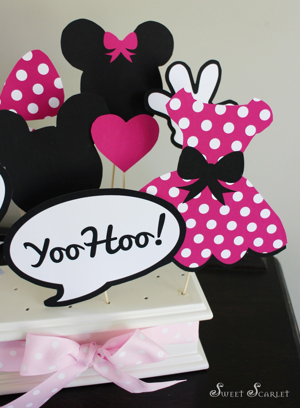 Minnie Mouse Photo Booth Props In Hot Pink Print Your Own