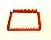 Vintage Red Metal Weaving Loom for Potholders etc