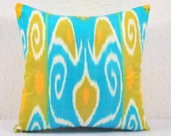 Ikat Pillow, Hand Woven Ikat Pillow Cover spi401, Ikat throw pillows, Designer pillows, Decorative pillows, Accent pillows