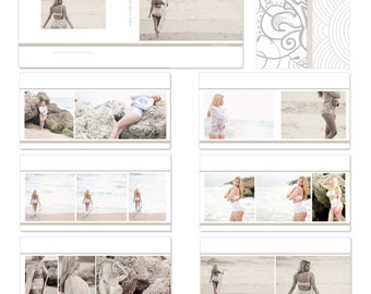 INSTANT DOWNLOAD Boudoir Beauty 10x10 Album Photography Template - 16 spreads/32 pages