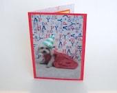 Poodle Birthday Card, Dog Birthday Card, Blank Birthday Card