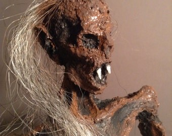 Rotted Vampire Zombie Corpse / Handmade figure sculpture