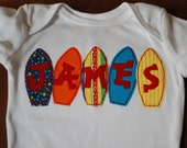 surf board applique shirt