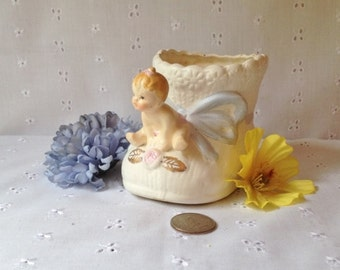 Vintage Napcoware Ceramic Container Baby on a Bootie