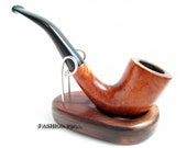 Sale Fashion Italian Briar Wood Rusticated Smoking Pipe Sherlock Holmes Pipe Structure Features Wood, Designed for pipe smokers