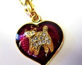 Vintage Charms For Bracelet Heart and Cat Or Boy & Verse