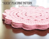 """Crochet Placemat Pattern - """"ALICIA"""" Placemats - PDF"""