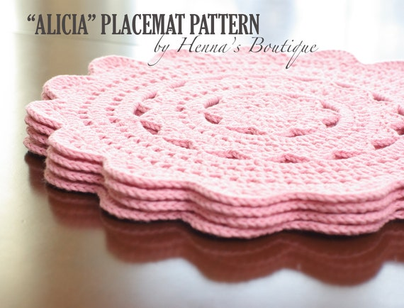 Crochet Placemat Pattern Alicia Placemats Pdf
