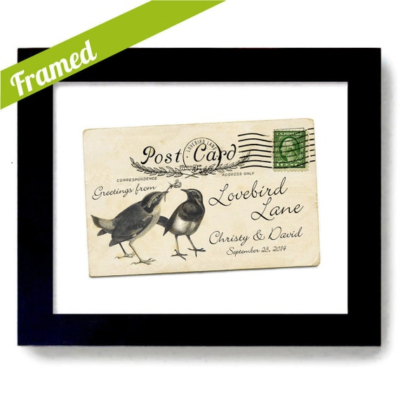 Unique Wedding Gifts For Newlyweds : Gift for Newlyweds Personalized Wedding Gift Old Postcard Different ...