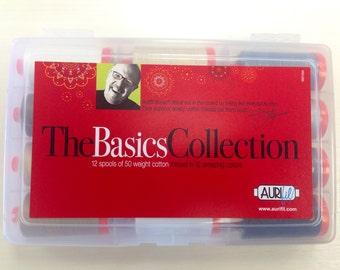 Mark Lipinski Aurifil Thread: The Basics Premium Collection 12 LG spools 50 wt