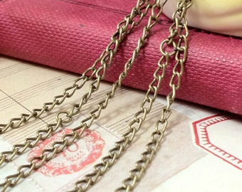 3 meters of 3 mm Antique Bronze Fine Chain ( .aii)