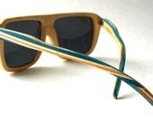 Recycled Skateboard Sunglasses - Bamboo