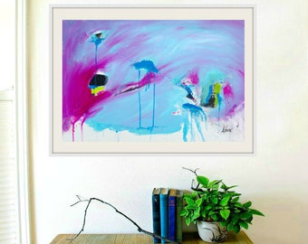 Original painting Original Abstract painting Large Wall art on canvas Modern Art Painting 36x24 inch Contemporary Art