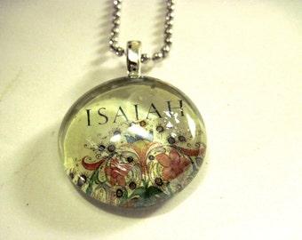 Bible Art Pendant,  Handmade Necklace,  Medieval Illustrations, glass Gem, handmade pendant, glass pendant
