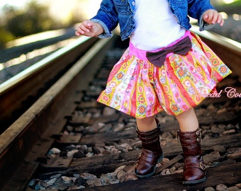 Girl's Bubble Skirt Sewing Pattern, Reversible Bubble Skirt Pattern, Toddler Pattern