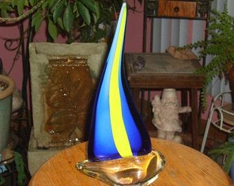 Murano Art Glass Sailboat