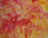Hand Dyed  Fabric, Ice Dyed Quilt Cotton, Strawberry Lemonade, 5/8 Yard (LS) #53