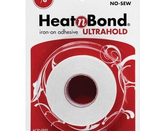 "Heat'n Bond Ultra Hold Iron-On Adhesive, 7/8"" x 10 yd roll, Craft Supply"
