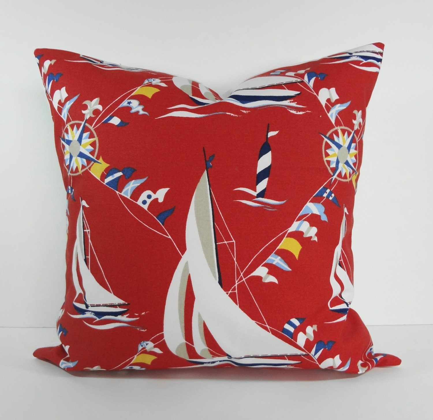 Nautical Decorative Pillow Covers : Designer Nautical Pillow Cover Decorative Pillow by pillows4fun