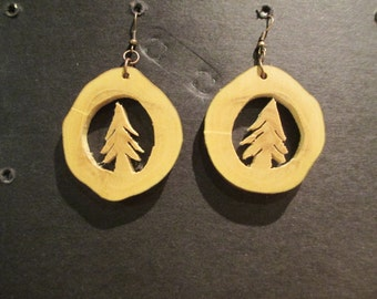 Tree branch earrings.