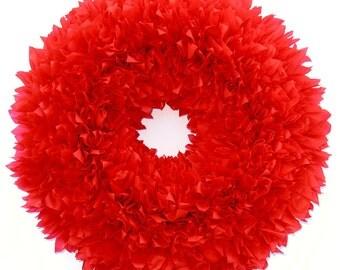 Valentine's Wreath - Red Wreath - Outdoor Wreath - Weatherproof Wreath - Door Wreath - Winter Wreath - Valentine Wreath - Waterproof Wreath