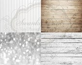"""SAMPLE PACK / FOUR 12"""" x 12"""" Mix and Match Wood Floordrops / Vinyl Photography Backdrops for Product Photos"""