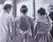 CUSTOM PORTRAIT - Oil Painting - Family Portrait - Custom Painting - Anniversary Gift - 9x12